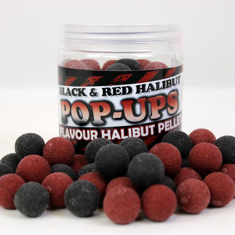 Pop Ups Black & Red Halibut